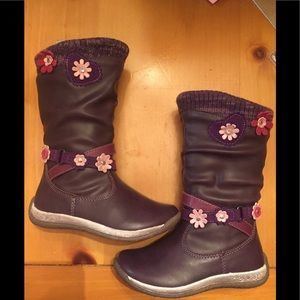 NWT-Leather Purple- toddler boots